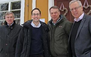 Peter Eklund, vd på Bergkvist Insjön, Sakarias Winberg, Ulf Bergkvist, styrelseordförande Bergkvist Insjön och Mats Odell. FOTO: EVA HÖGKVIST