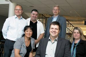 Håkan Englund (S), Bengt Forssén (S), Björn Mårtensson (C), Yoomi Renström (S), Hans Jonsson (C) och Gun-Marie Swessar (C) diskuterade arbetsmarknad, näringsliv, tillväxt och turism i valrörelsens slutskede i Voxnadalens gymnasium.