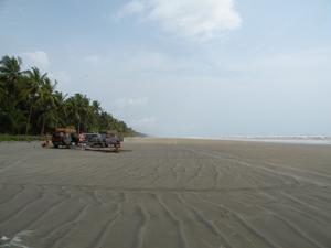 En strand i Ghana.