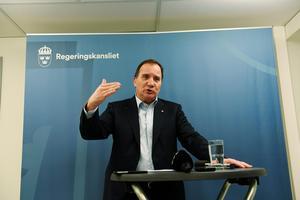 Regeringen och näringslivet ska i samverkan ordna jobb åt dem som har svårt få arbete. Bilden: statsminister Stefan Löfven.