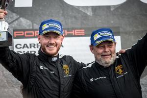 "Daniel Haglöf och Peter ""Poker"" Wallenberg vann dubbelt isin Lamborghini."