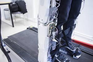 Så här ser robotbenen ut just nu. I framtiden ska en mindre modell byggas.