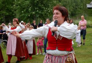 Dansledare med stor inlevelse, Ingmari Nilsson.
