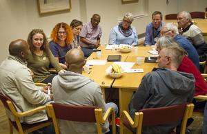 Arbetsgruppen med kultur och fritid diskuterade möjligheter att samverka.