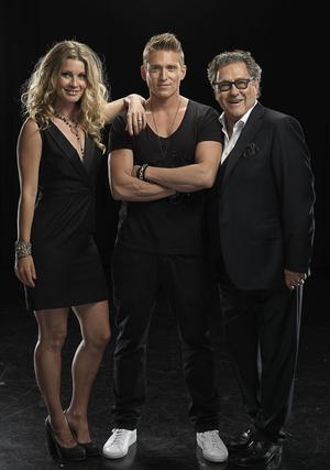 """Letar röst. Pernilla Andersson, Danny Saucedo och Tommy Körberg är sångcoacher i TV3:s nya talangjakt """"True talent"""".Foto: Niklas Alm"""