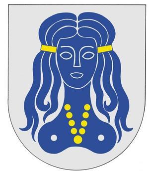 TOPLESS. Halvnakna jungfrun Hilleborg symboliserade sin socken i över 300 år. Den här vapenskölden skapades av Hans Schlyter 1964 och blev inaktuell när Hille kommun gick upp i Gävle fem år senare.