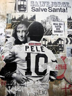 Rio minns sina idrottshjältar. Men den största av de alla, Pelé, spelade aldrig i OS. Det brasilianska landslaget har heller aldrig tagit ett OS-guld.   Foto: Helena Gustavsson/TT