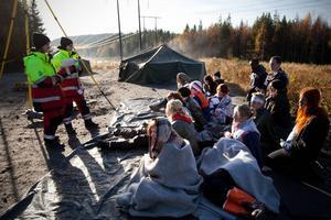 MSB har erfarenhet av att sätta upp tältläger och boenden akut efter många övningar som här på Högberget.