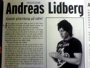 Fuzz ägnar Andreas Lidberg en helsida.