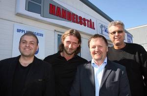 Robert Johansson och Patric Norrbom från Profilplåt och Peter Wilhelm och Tony Kock från Handelsstål har precis kommit igång med verksamheten i Gävle.