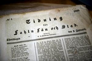 Dalarnas andra tidning säljs också på auktion Foto:Lars Dafgård