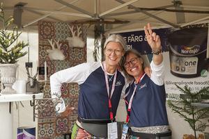 Det var första gången Hede Färg och Måleri hade monter på Game Fair. Susanne Näs och Camilla Westlund tyckte det var en trevlig och rolig erfarenhet.
