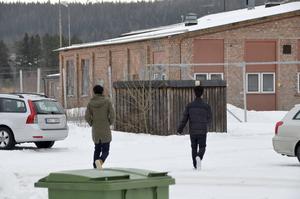 Personal från HVB-hemmet var ute och sökte barnen som rymt från huset. När socialtjänsten åkt från platsen kom barnen tillbaka till hemmet.