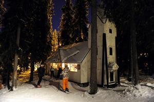Inne i Trollskogen finns också en kopia av Rörbäcksnäs kyrka.