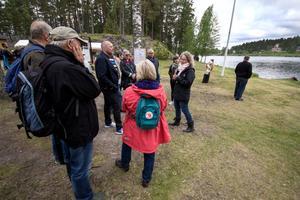Flera guidade visningar ordnades under dagen, så att besökarna fick veta mer om den unika miljön.