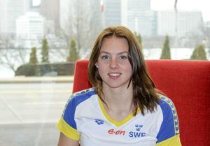 Sara Junevik, Falu SS, klar för semifinal i kortbane-VM.