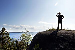utsikt. Gråbergets högst punkt är ekologen Mikael Ekmans favoritplats i Gävle.