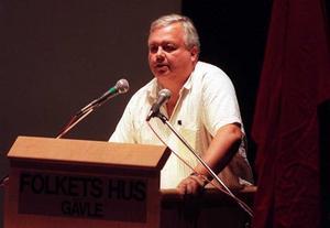 Håkan Vestlund under en budgetdebatt 1995.