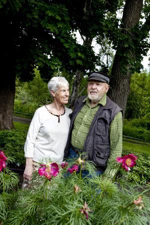 Sture och Kristina Järpemo, tar med förtjusning emot gäster i sin plantskola i en glänta i skogen söder om Månkarbo.