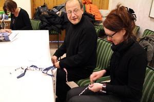 Carina Nilsson och Johan Sirén, båda från kulturskolan i Söderhamn. Carina tyckte mycket om Gunnar Bjursells föreläsning om hur kultur främjar inlärning och hälsa och Johan fick veta mer vilka vägar man kan gå för att söka bidrag.