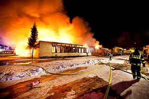 Branden på Tunbytorp den 1 februari 2012 fick ett våldsamt förlopp.