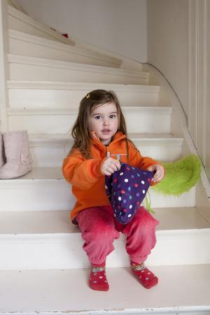Kan själv. Bonnie Nikula, 3 år, har en stark vilja.