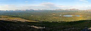 Panorama från Ottfjället.
