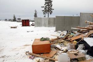 Sopstationen i Sveg är stängd på grund av flygsäkerheten efter bara en månad i drift.Foto: Håkan Degselius