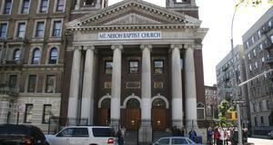 Mount Neboh Baptist Church, en av många kyrkor i Harlem som välkomnar turister.