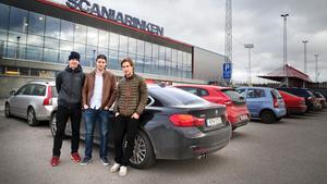 Succékedjan. Från vänster, Anton Holm, Henrik Nyberg och Fredric Weigel.