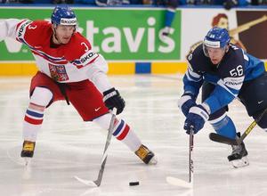 Petr Zamorsky lånas ut till Örebro resten av säsongen. Här möter han Finland i förra årets VM-semifinal.