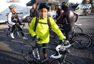 Första sommaren med cykelträning väntar Sebastian Telleria Lopez, Östersund, som började träna med Frösö IF i höstas.