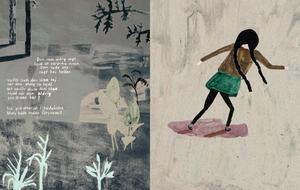 """Klara Persson fick ta emot både Slangbellan och Snöbollen för sin bilderbok """"Molly & Sus"""", som hon både skrivit, tecknat och formgett själv."""