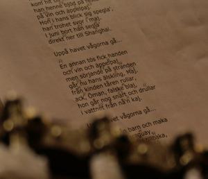 Sången om Axel Öman var en av sångerna som sjöngs.