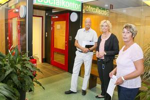Leif Nilsson, chef omsorgen, Denise Wallén, chef socialförvaltningen och Anna-Lena Andersson (S), ordförande socialnämnden, planerar för en stor omställning av äldreomsorgen i Härjedalen.