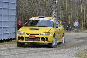Janne Andersson ledde efter första varvet i värstingklassen.