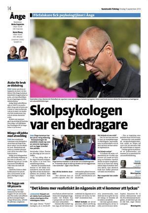 Sundsvalls Tidning 11 september 2013.