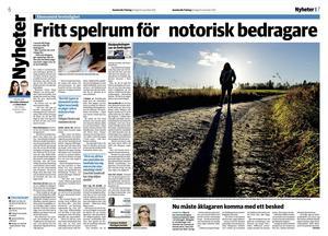 Sundsvalls Tidning 10 november 2013.