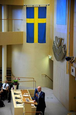 Fredrik Reinfeldt var ovanligt på hugget i partiledardebatten om EU-valet, som annars handlade väl mycket om inrikespolitiken. Foto: scanpix