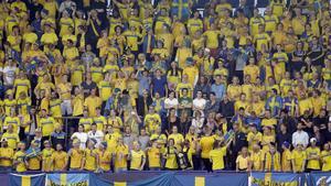 Svenska supportrar på plats i Prag. På onsdag får ännu fler chansen att hylla U21-landslaget.