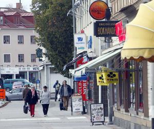 I dag utgörs handeln i Ljusdal av många småbutiker. Utbudet är ovanligt bra för en ort i den här storleken. Men ur en kundaspekt skulle butikerna kunna vara fler och ligga närmare varandra istället.