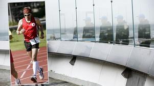 Hasse Byrén springer maratonloppet på Svampen.