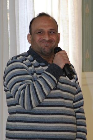 Ali Ayrouta berättade om sin byggnadsingenjörsbakgrund i Syrien och Quatar