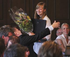 Ingrid Bergström Nilsson fick utmärkelsen vårens söderhamnare på kommunfullmäktige i går.