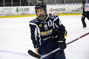 Erica Udén Johansson har gjort fem mål och ett assist på sju matcher i SDHL.