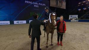 Elin Lundin tyckte att det var stort att få träffa Prinsen efter tävlingen.