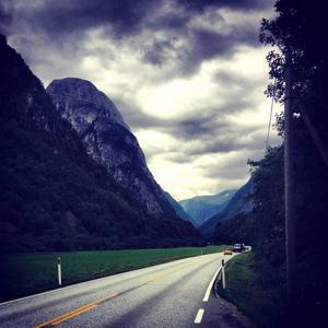 Fin landskapsbild på väg från Bergen.