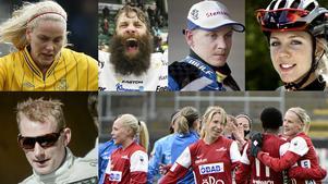 Lisa Dahlkvist, Örebro Hockeys Emil Kåberg, Fredrik Lindgren, Emilia Fahlin, Richard Göransson och Kif Örebro.
