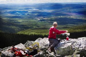 Lunch med Örndalen, som egentligen heter Skorvdalen, i blickfånget ger vildmarkskänsla. Fullt utbyggd blir det flera tusen bäddar i dalen och byggstarten är beräknad till i höst.