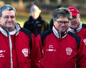 Kåre Öberg (till höger) är inte helt nöjd med Söråkers spel just nu.